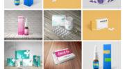 Шаблон упаковки таблеток мокап