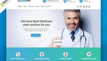 Дизайн макет для сайта клиники