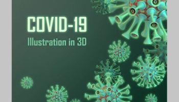 Коронавирус 3D в формате PSD