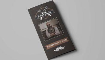Бесплатный шаблон брошюры для  Барбершопа и парикмахерских (PSD)