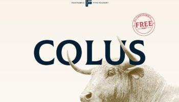 Шрифт Colus скачать— 1 бесплатное начертание, кириллица