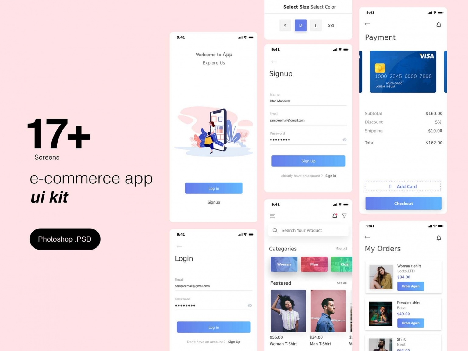 Шаблон мобильного приложения интернет магазина