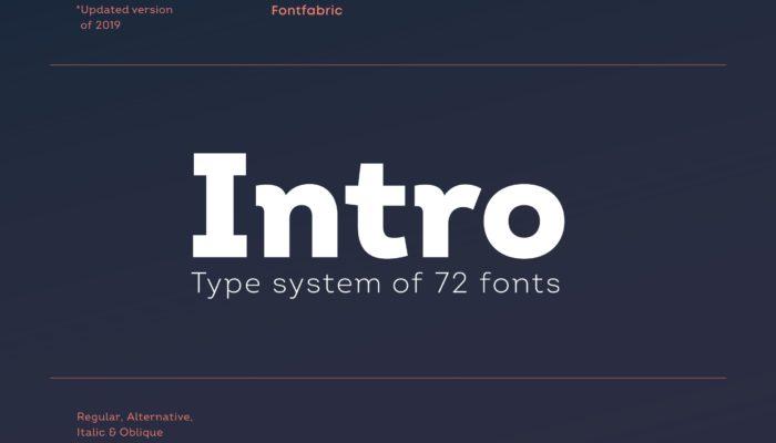 Шрифт Intro скачать— 4 бесплатных начертания, кириллица