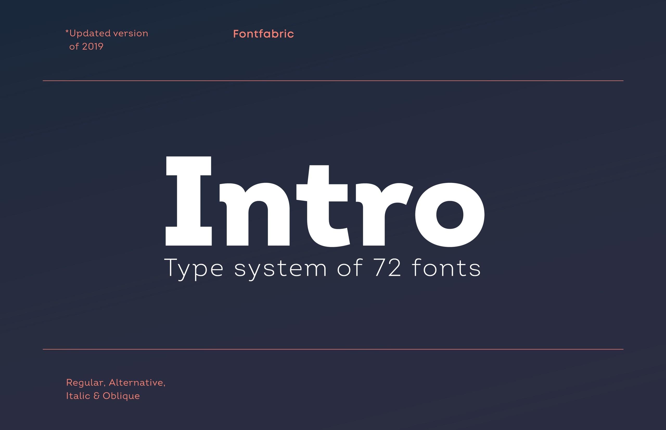 Шрифт Intro скачать