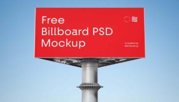 Треугольный билборд мокап (PSD)