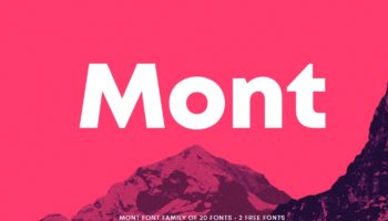 Шрифт Mont скачать— 2 бесплатных начертания, кириллица