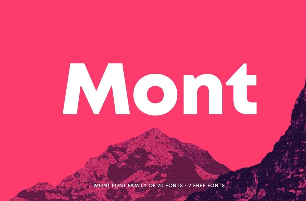 Шрифт Montскачать