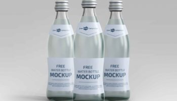 Реалистичный мокап бутылки воды  PSD