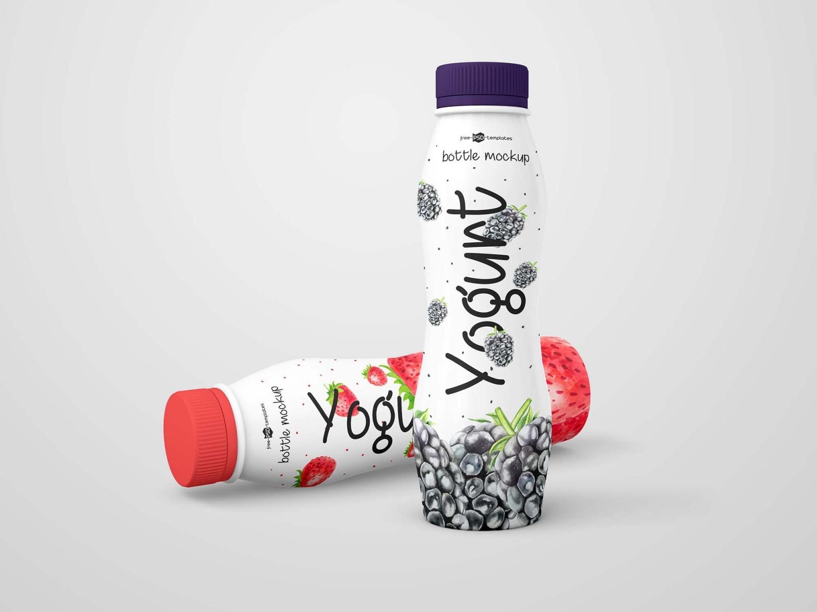 мокап йогурт PSD