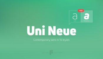 Шрифт Uni Neue скачать— 2 бесплатных начертания, кириллица