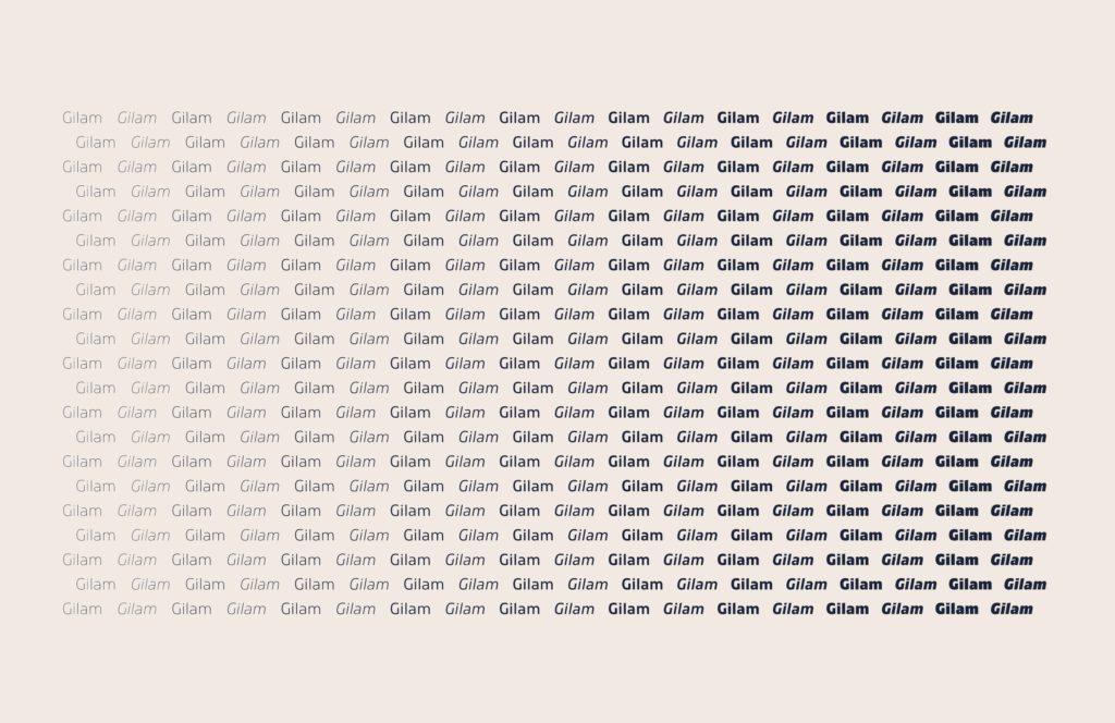 Шрифт Gilam скачать бесплатно