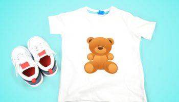 Макет детской футболки — Мокап