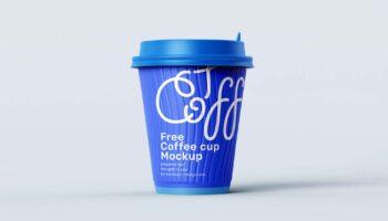 4 бесплатных мокапа бумажных кофейных стаканчиков (PSD)