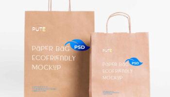 Бумажный пакет мокап PSD