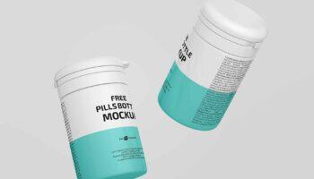 Мокап банки для таблеток PSD
