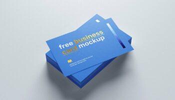 4 бесплатных мокапа визиток с фольгированным тиснением