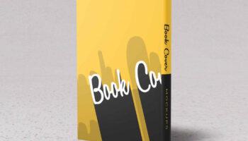 Мокап книги — передняя и задняя обложки PSD