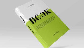Мокап книги с твердым переплетом PSD