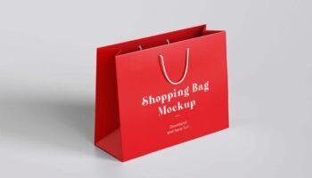 Мокап пакет для шопинга PSD