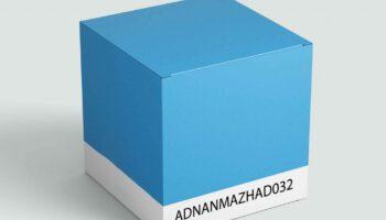 Коробка мокап PSD