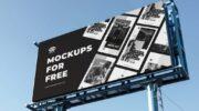 Мокап билборда PSD