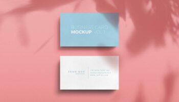 Мокап стандартной бизнес-визитки