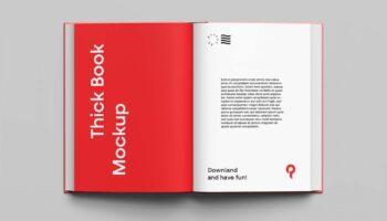 Мокап открытой книги PSD