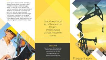 Макет брошюры-трифолда PSD