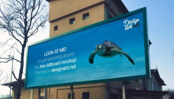 Мокап билборд 3:1 PSD