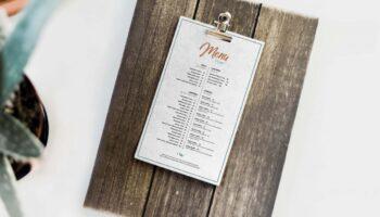 Мокап меню ресторана PSD