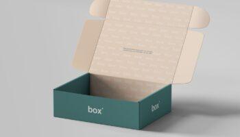 Мокап коробка открытая PSD