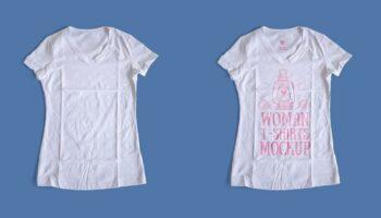 Мокап женская футболка PSD