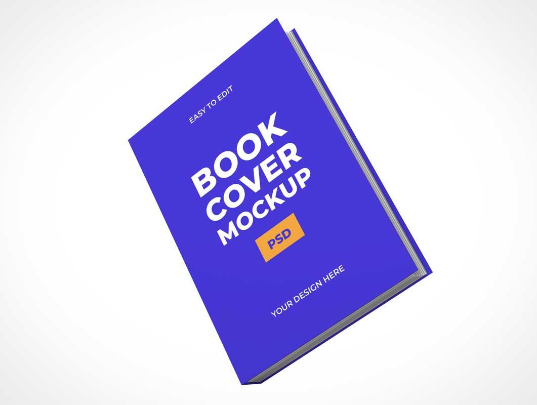 мокап обложки книги PSD