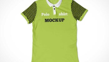 2 мокапа футболки поло PSD