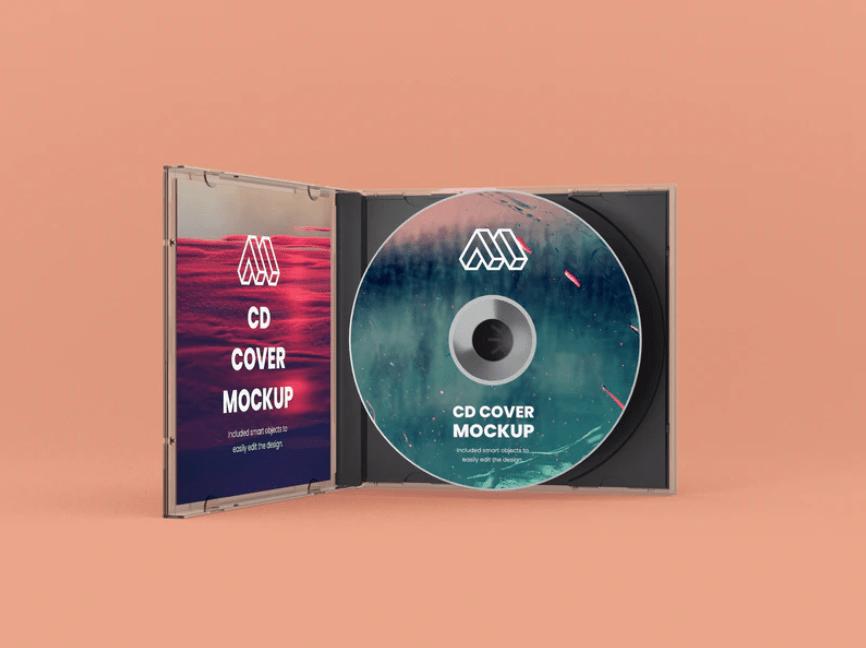 мокап cd диска psd