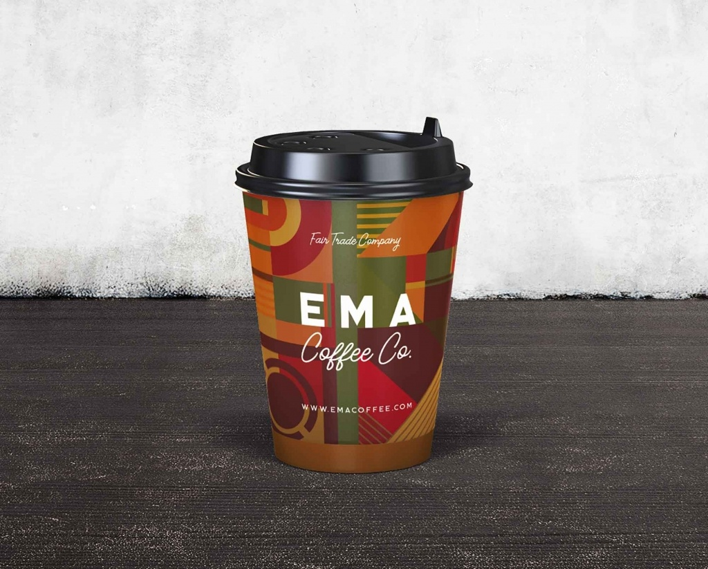 мокап стакана кофе PSD