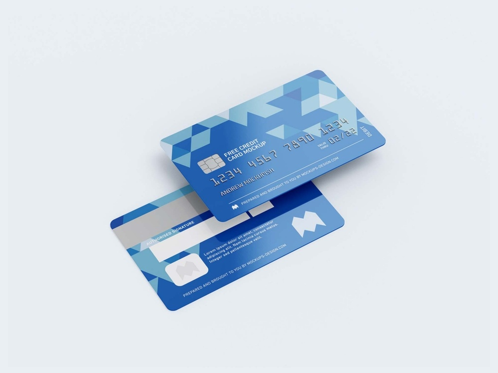 мокапы кредитной карты