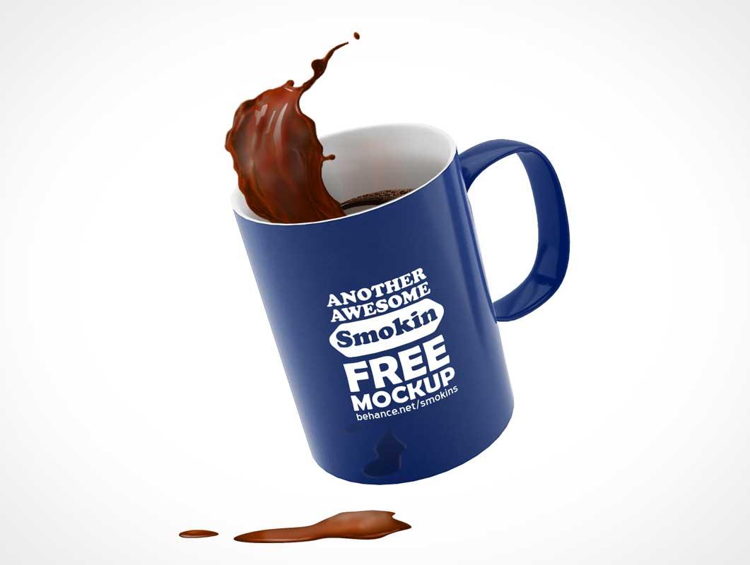 мокап кружка кофе PSD
