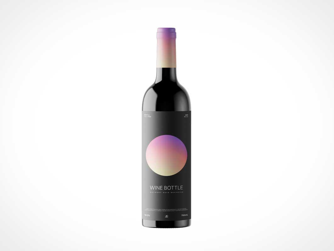 мокап бутылки вина PSD