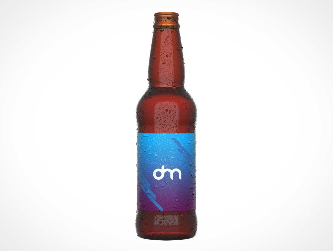 мокап бутылки пива PSD