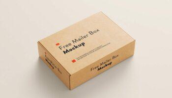 Мокап картонной коробки — 5 шт. PSD