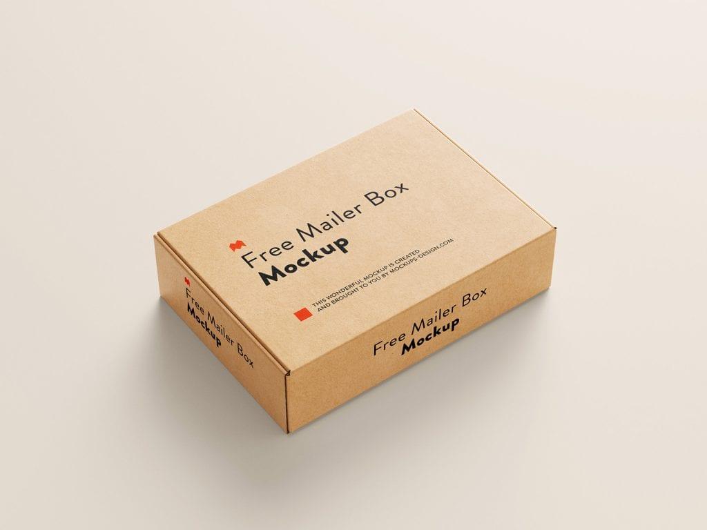 мокап картонной коробки psd
