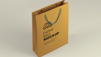 Мокап бумажного пакета PSD