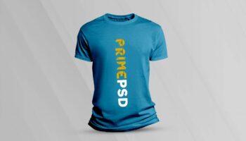 Минималистичный мокап мужской футболки PSD