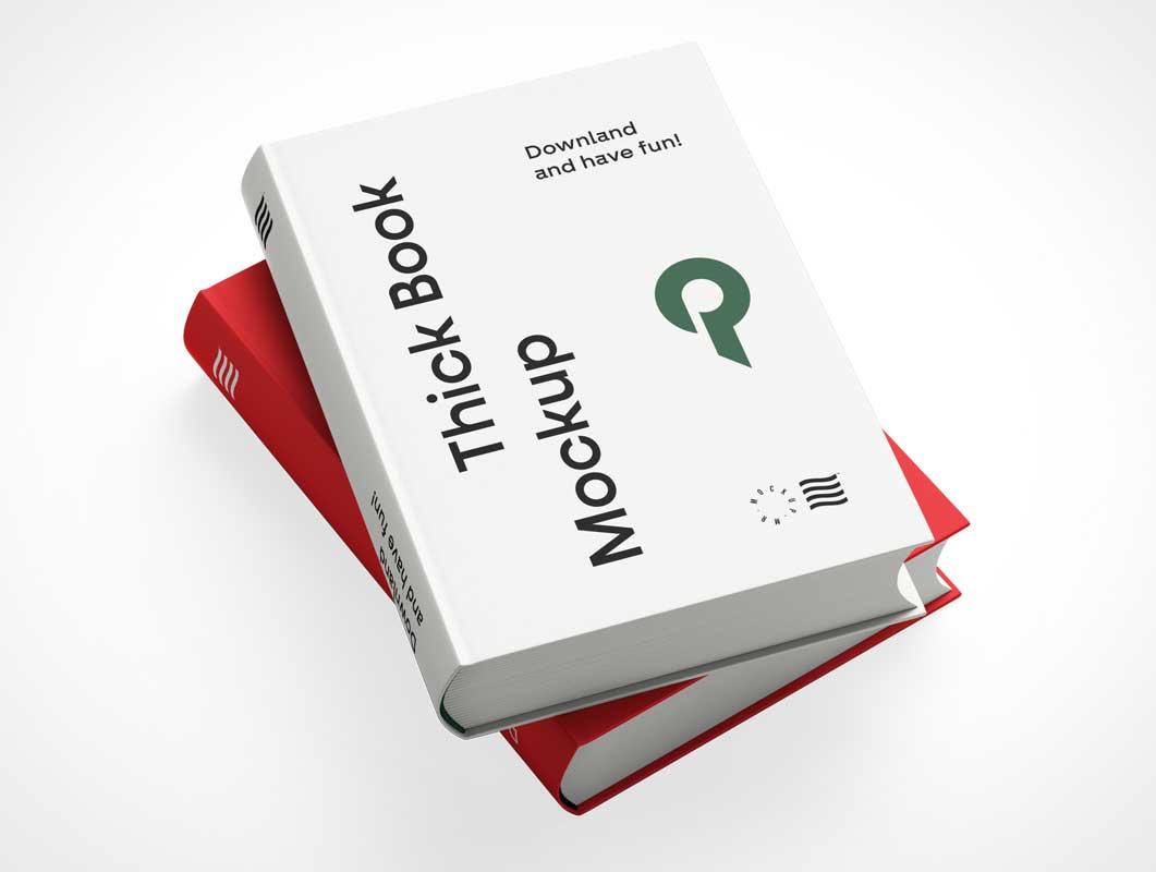 мокап 2 книг psd