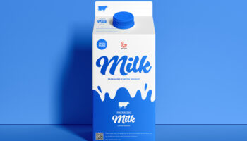 Мокап упаковки молока PSD