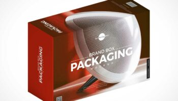 Мокап коробки с брендированием PSD