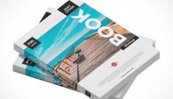 Мокап 2 книг в мягком переплете PSD