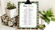 Мокап меню для ресторана PSD