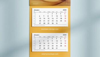 Мокап календаря PSD